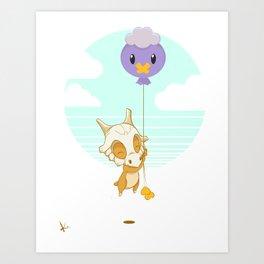 Cubone's Balloon Art Print