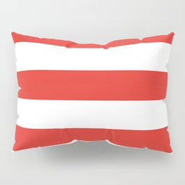 rayures blanches et rouges 7 Pillow Sham