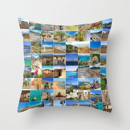 set of Peloponnes pictures, Greece Throw Pillow
