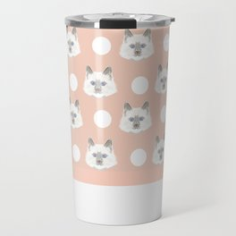 Ella - Birmin breed cat lovers pet owners cat person gift idea for cat lady hipster white cute kitte Travel Mug