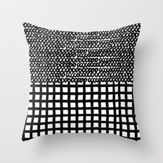 Circles and Grids Throw Pillow