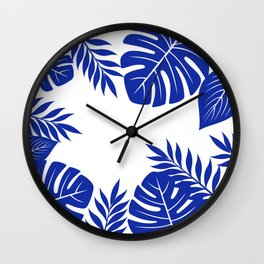 Paradise in cobalt Wall Clock