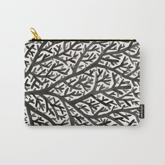 Black Fan Coral Carry-All Pouch
