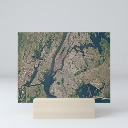 New York from space Mini Art Print