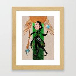 Loki Tarot Framed Art Print