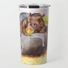 hippo sunblock Travel Mug
