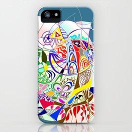 Filanes-45 couleur fond bleu iPhone Case