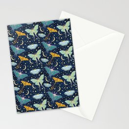 Moon Moths Stationery Cards