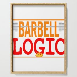 """Wear your own fitness anytime! Grab your own personalized tee with text """"Barbell Logic"""" Serving Tray"""