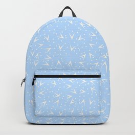 Preppy Blue Dots and Triangles Pattern Backpack