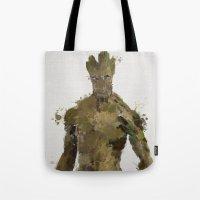 groot Tote Bags featuring Groot by Scofield Designs