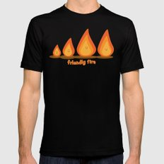 Friendly fire Black Mens Fitted Tee MEDIUM