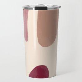 Color Stones Biege Path Travel Mug