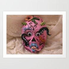hurricane mask Art Print