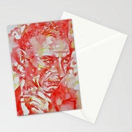 J. ROBERT OPPENHEIMER - watercolor portrait.2 Stationery Cards