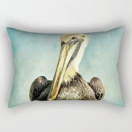 Brown Pelican Art Rectangular Pillow