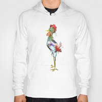 rooster Hoodies featuring rooster by tatiana-teni