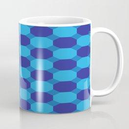 Triple Blue Octogons Coffee Mug