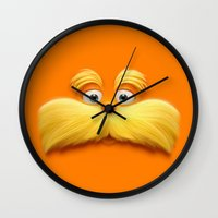 lannister Wall Clocks featuring THE LORAX by Inara