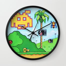 "'Paroxetine' 12""x12"" Acrylic and Marker on Canvas 2012-2013 Dan Gribben Wall Clock"