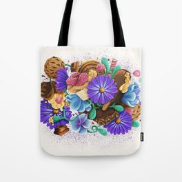 CANDY & FLOWERS Tote Bag