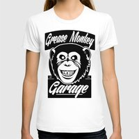 grease T-shirts featuring Grease Monkey Garage by Broenner