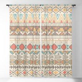 Aztec pattern 03 Sheer Curtain