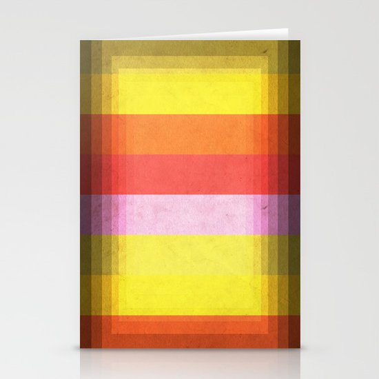 Warm Color Stripes Stationery Cards