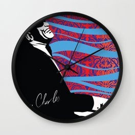 Retro Graffiti Ray Charles Jazz Poster Wall Clock
