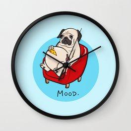 Pug Mood Wall Clock