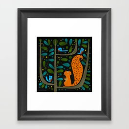 NIGHT TREE Framed Art Print
