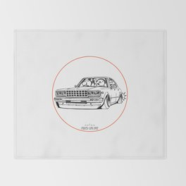 Crazy Car Art 0210 Throw Blanket