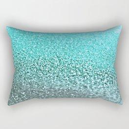 TEAL GLITTER Rectangular Pillow