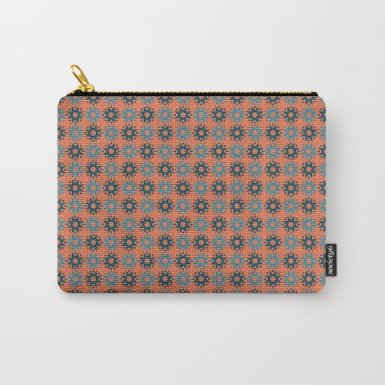 Pattern orange blue Carry-All Pouch