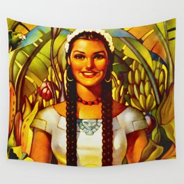 Vintage Bountiful Mexico Travel Wall Tapestry
