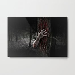 Fear in the Woods Metal Print