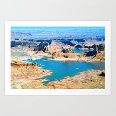 Soaring Over Turquoise and Sandstone XIII Art Print