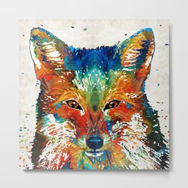 Colorful Fox Art - Foxi - By Sharon Cummings Metal Print