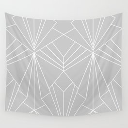 Art Deco on Grey - Large Scale Wall Tapestry