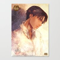 levi Canvas Prints featuring SNK - Levi by T.Wolv
