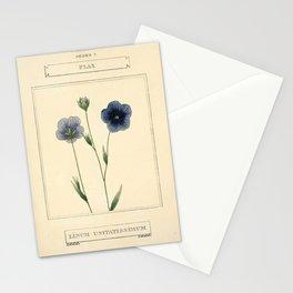 Flower Flax linum usitatissimum14 Stationery Cards