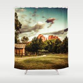 Southwest Chimney Rock Vortex Sedona Arizona Shower Curtain