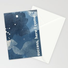 Blue Watercolor | Success Stationery Cards