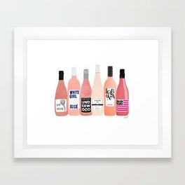 Rose Bottles Framed Art Print