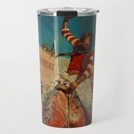 "N C Wyeth Western Painting ""The Rodeo"" Travel Mug"
