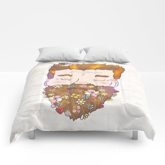 Flower beard Comforters