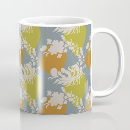 Mod Wreath Pop Japandi style leaf and stone print Coffee Mug
