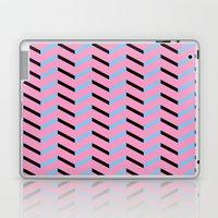 Blue and Black Chevron on Hot Pink Laptop & iPad Skin