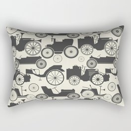 Retro pattern with vintage cars Rectangular Pillow