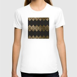 Reims, France: Luxueux Black and Gold Art Deco T-shirt